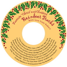Holly Bright Cd Label In Gold & Dark Red