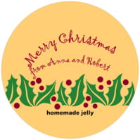 Holly Bright small canning jar toppers