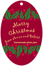 Holly Bright large oval hang tags