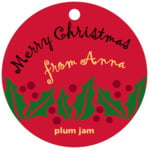 Holly Bright circle hang tags