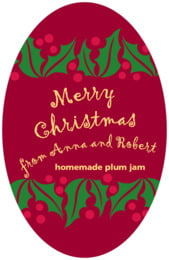 Holly Bright tall oval labels