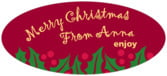 Holly Bright oval labels