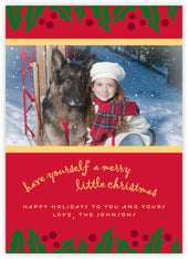 Holly Bright photo cards - vertical