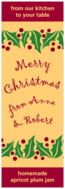 Holly Bright holiday wine labels