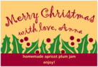 Holly Bright holiday labels