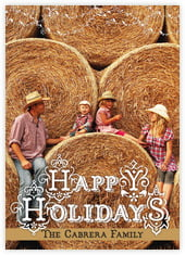 Holiday Fronds photo cards - vertical