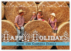 Holiday Fronds photo cards - horizontal