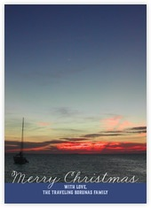 Faraway Holiday photo cards - vertical