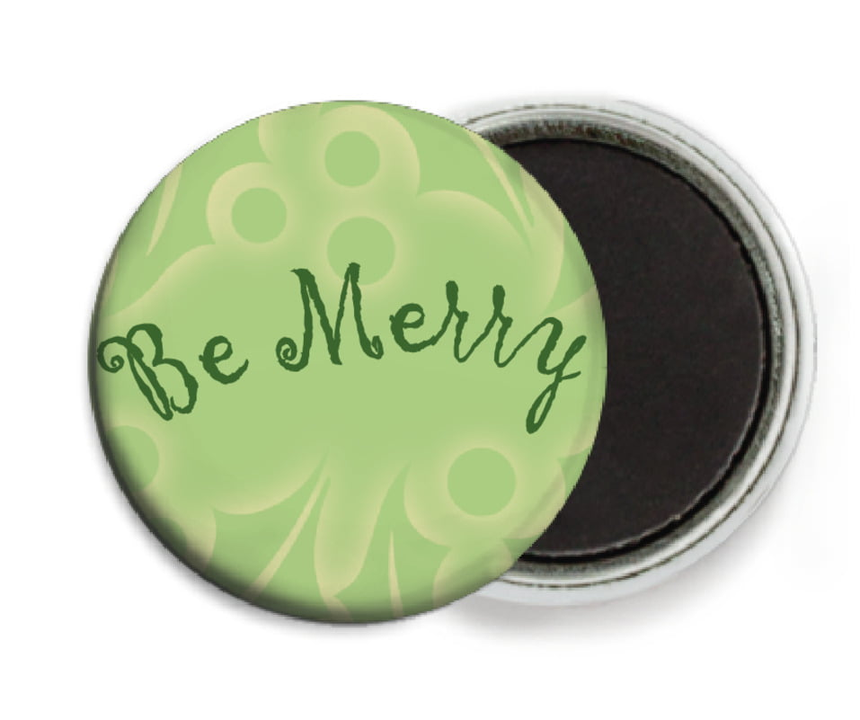 custom button magnets - green tea - holly glow (set of 6)