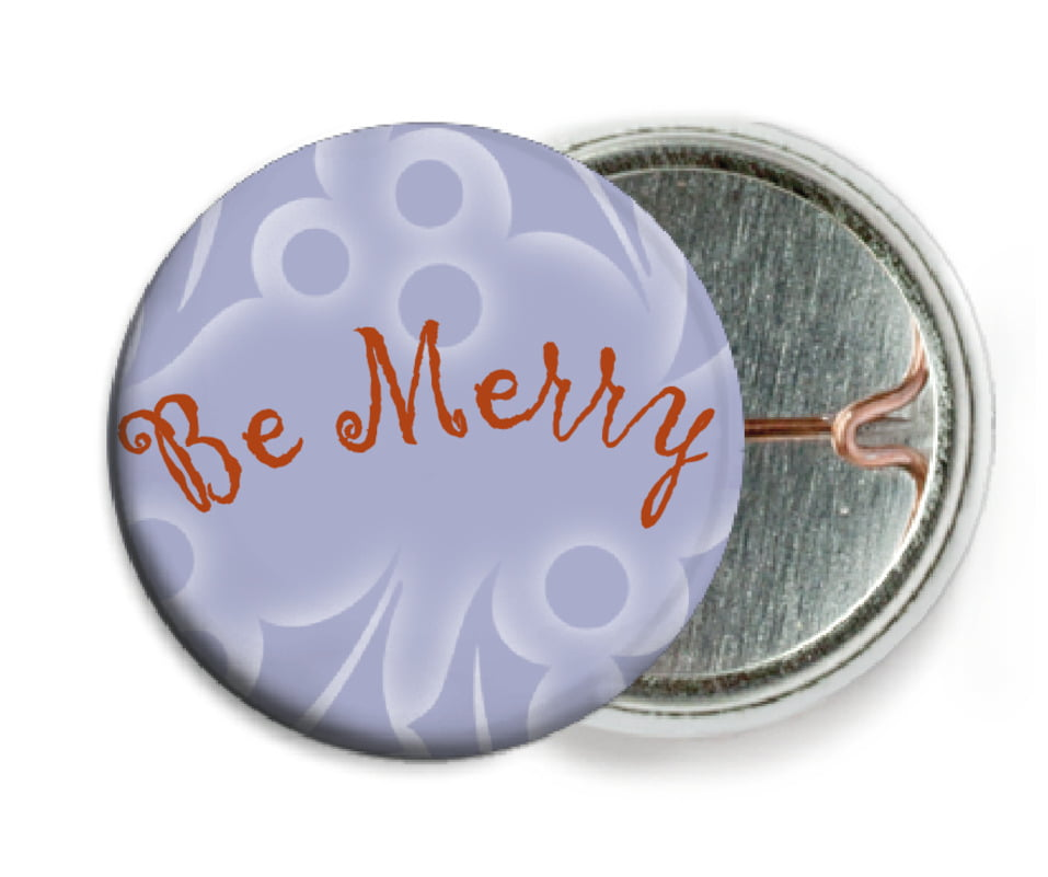 custom pin back buttons - pale blue - holly glow (set of 6)