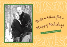 holiday cards - deep gold - holly glow (set of 10)