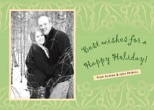holiday cards - green tea - holly glow (set of 10)
