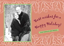 holiday cards - pale cinnamon - holly glow (set of 10)