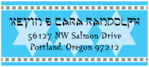 Shalom Designer Address Label In Ice Blue