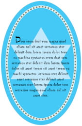 Shalom oval text labels
