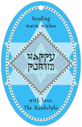 Shalom large oval hang tags