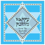 Shalom Square Label In Ice Blue