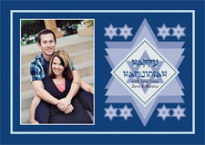 holiday cards - deep blue - shalom (set of 10)