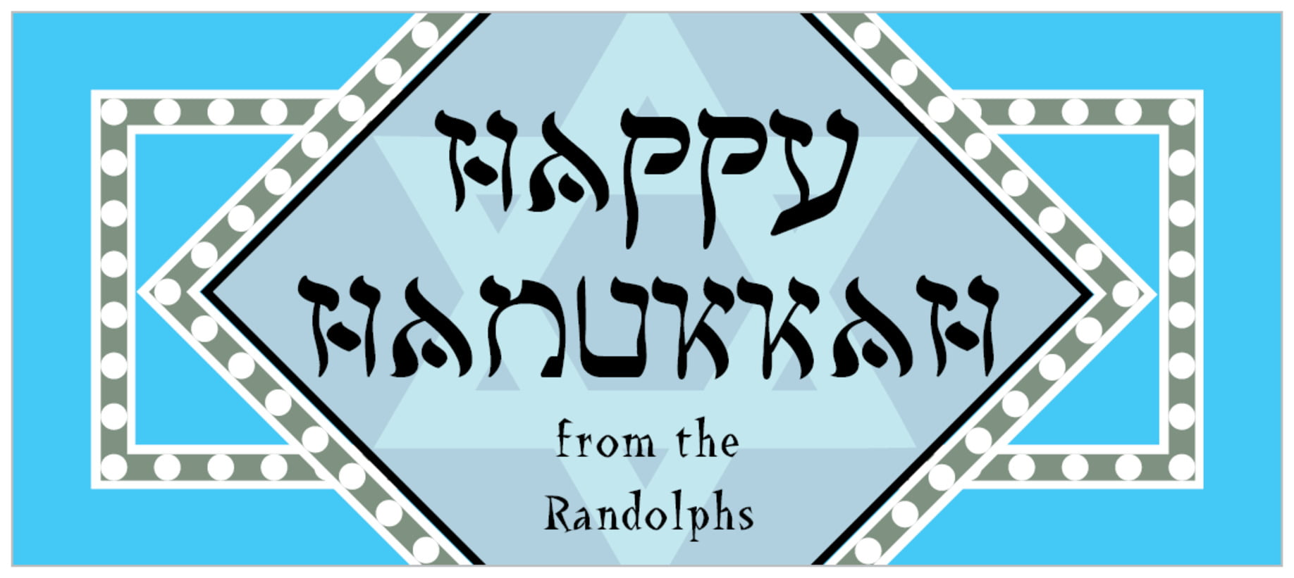 small rectangle food/craft labels - ice blue - shalom (set of 24)