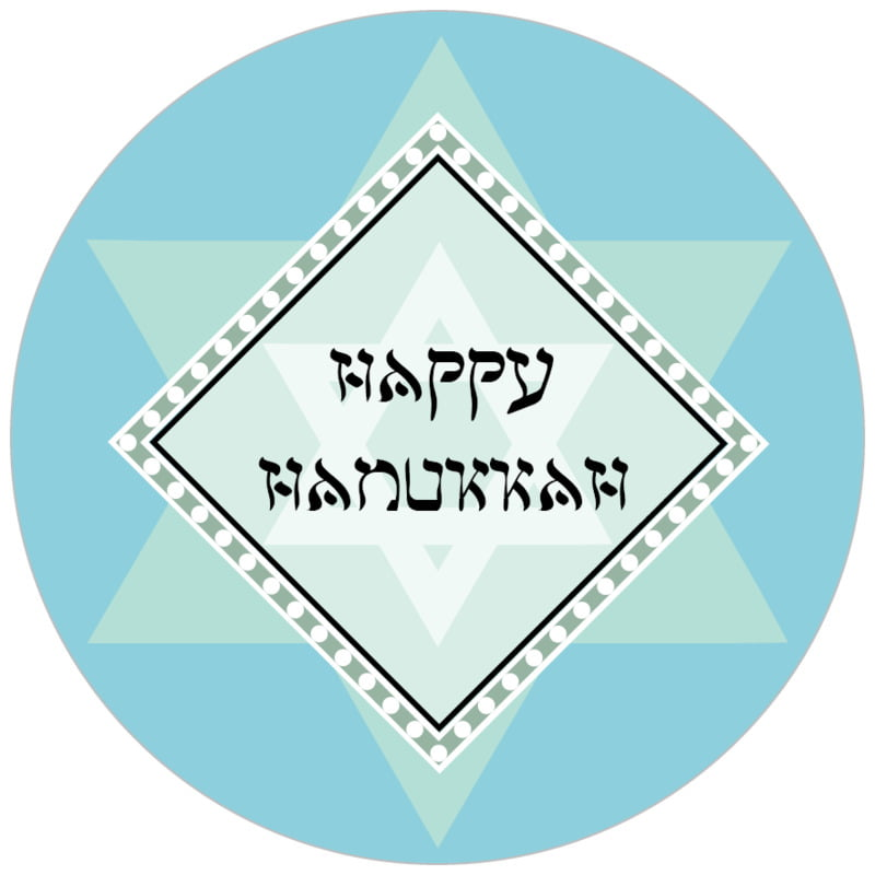 circle food/craft labels - sky - shalom (set of 35)
