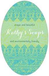 Henna tall oval labels