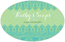 Henna large oval labels