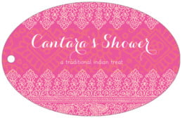 Henna wide oval hang tags