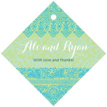 Henna diamond hang tags