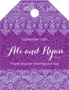 Henna small luggage tags
