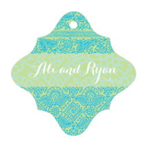 Henna fancy diamond hang tags