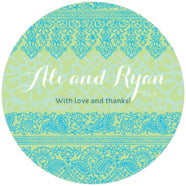 Henna large circle labels