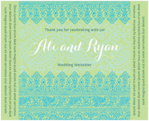 Henna large wide labels