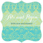 Henna fancy square labels