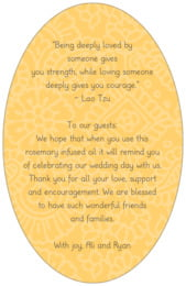 Henna oval text labels