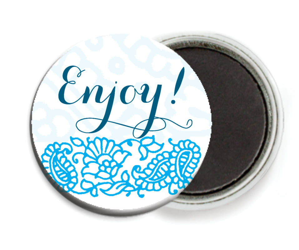 custom button magnets - sky - henna (set of 6)