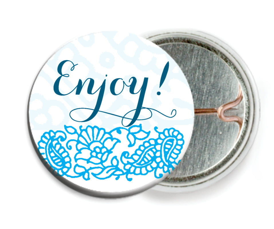 custom pin back buttons - sky - henna (set of 6)