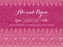 custom save-the-date cards - burgundy - henna (set of 10)
