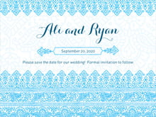 custom save-the-date cards - sky - henna (set of 10)