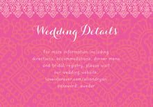 custom enclosure cards - pink & tangerine - henna (set of 10)