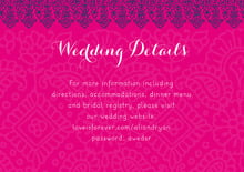 custom enclosure cards - bright pink - henna (set of 10)