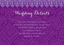 custom enclosure cards - plum & soft blue - henna (set of 10)