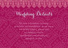 custom enclosure cards - burgundy - henna (set of 10)