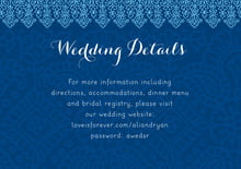 custom enclosure cards - deep blue - henna (set of 10)