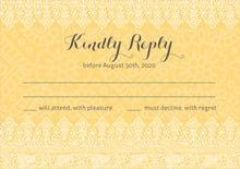 custom response cards - sunburst - henna (set of 10)