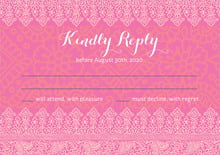custom response cards - pink & tangerine - henna (set of 10)