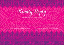 custom response cards - bright pink - henna (set of 10)