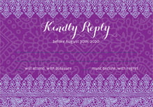 custom response cards - plum & soft blue - henna (set of 10)
