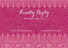 custom response cards - burgundy - henna (set of 10)