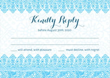 custom response cards - sky - henna (set of 10)
