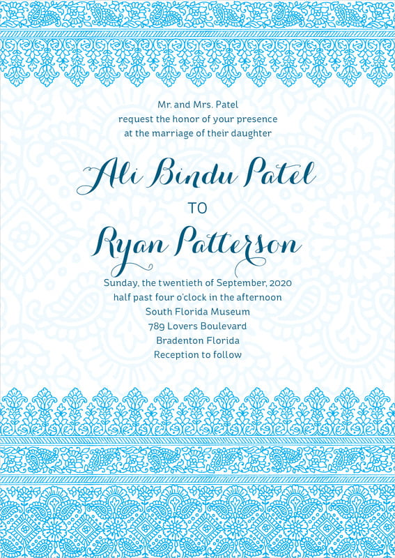 custom invitations - sky - henna (set of 10)